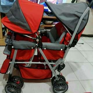 雙人嬰兒推車