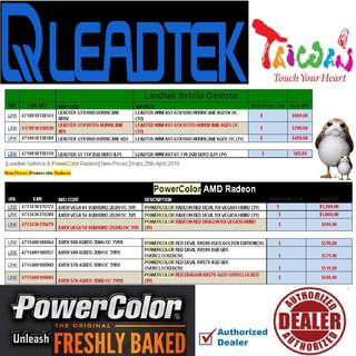 "PowerColor Rx 580....., to LeadTek GTX 1080... SRP price list.   Interested...!! ""Start Order Today or Walk in Direct for Cheaper Offer rate"" (Apr-May 2018 price list)"