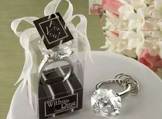 [PO] Engagement ring key chain wedding favours
