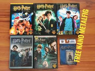 Harry Potter Film 1, 2, 3, 4, 5 with freebie