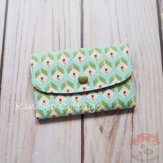 Handmade Card Pouch / Mini Wallet - Seedlings