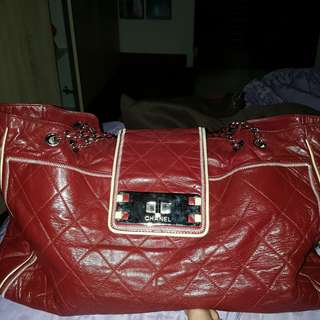 Chanel East West Tote Red (BAG ONLY) Authentic