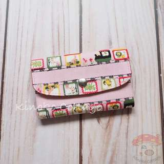 Handmade Card Pouch / Mini Wallet - Train