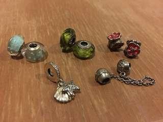 Authentic Pandora charms & chain