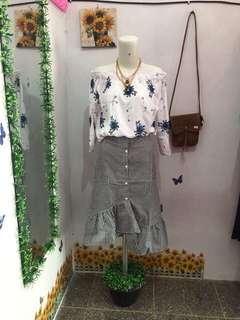 Ruffle skirt zara look a like