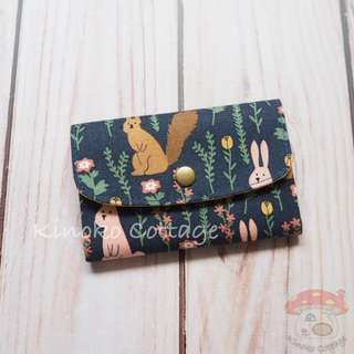 Handmade Card Pouch / Mini Wallet - Forest