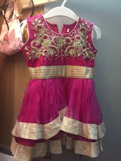 Baby Anarkali in fuschia