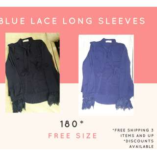 Blue Lace Long Sleeves