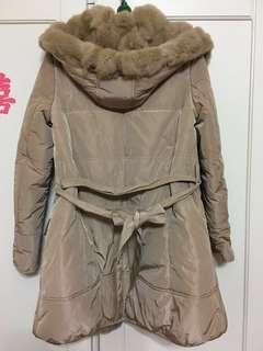 🚚 👩🏻💼熟女款👩🏻💼全新 兔毛鋪棉長版外套🧥