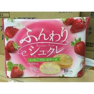 🚚 日本柿原 香草/草莓/抹茶夾心蛋糕10入