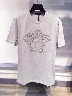 Versace Tee Man 灰色 Size:XS,M, L, XL Real and New