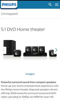 PHILLIPS 300W DVD home theater 5.1