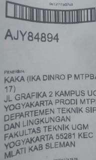 Delevery today Flanel Levis ke Yogyakarta
