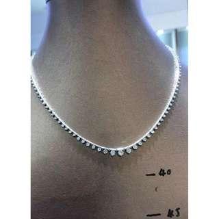 清貨3ct鑽石頸鏈