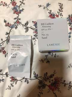 🚚 Laneige BB Cushion Whitening SPF 50+ PA+++ Refill (No.23 Sand)