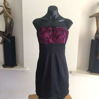 (S) PURE HYPE SEXY LITTLE BLACK N PINK DRESS