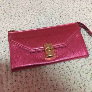 Charles and Keith Pink Wallet