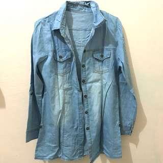 Kemeja blue jeans