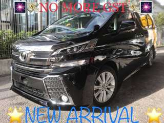 UNREGISTERED 2015 Toyota Vellfire 2.5cc ZA Spec MPV 7 seater