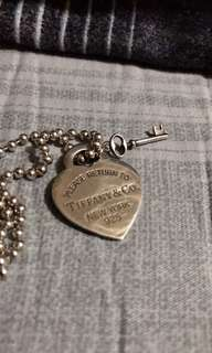 Authentic Tiffany & co necklace and pendant