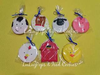 Barn Animals Themed Sugar Cookies