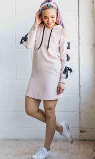 Twenty3 Cold Shoulder Hoodie Dress