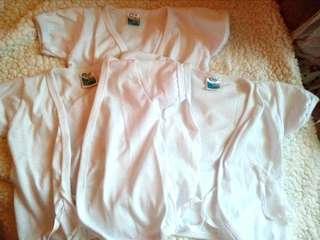 3 pcs Nb white cloth short sleeves