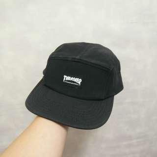 三件7折🎊 Thrasher 五分割帽 老帽 板帽 黑 logo標 復古 古著 Vintage