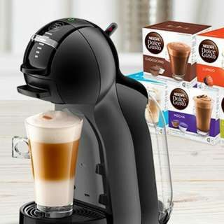 Purchase any 14pcs of Nescafe Dolce Gusto capsules, Free 1pc of Mini Me Black & Grey. (Value: $999)