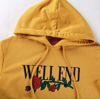 Mustard yellow hoodie - Well fed 🌹