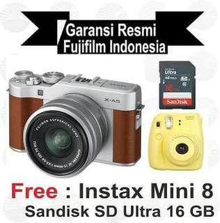 Fujifilm X-A5 Lengkap free Instax mini 8 Bisa cicilan Cukup 3Menit
