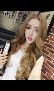 'Preorder' korean big wave centre parting wig * waiting time 15 days after payment is made* chat to buy to order