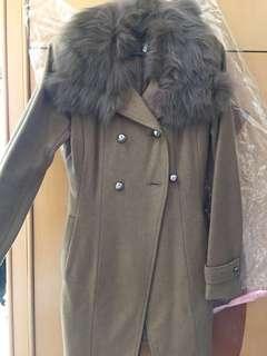 Khaki girly coat