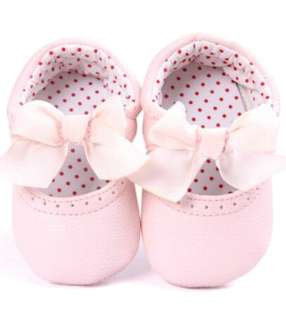 Baby Girl Pink Leather Shoes  6-12M