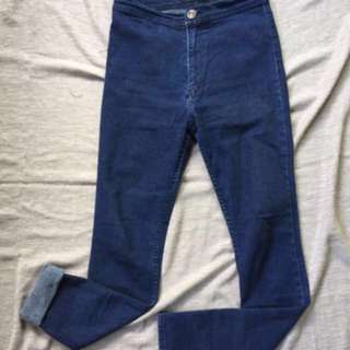 Auth high waist punny jeans skinny