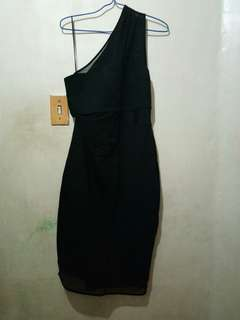 One Sided Black Dress Free shipping (MM only)