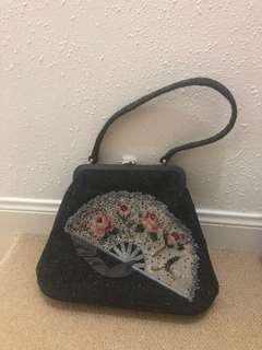 Lulu Guinness wool embroidery handbag