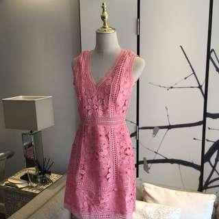 Alice + Olivia Zula pink Lace dress