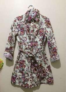 Paisley-patterned coat dress