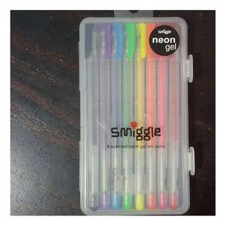 BNIP SMIGGLE authentic scented neon gel ink pens set of 8
