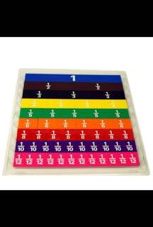 [Instock] Teaching and Learning resource rainbow fraction plastic modelling tiles 分数拼图