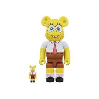 Bearbrick SpongeBob 100% & 400%Set