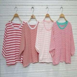 Loose stripe shirts