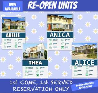 Re open units old priced
