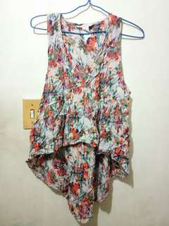 Floral cotton sleeveless