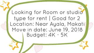 Looking for Apartment or Studio | Good for 2