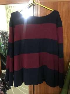 Baju belang merah biru padini