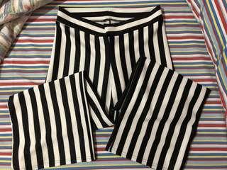 Black & white palazzo pants
