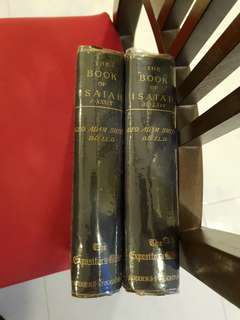 Vintage The book of Isaiah full set by Adam Smith