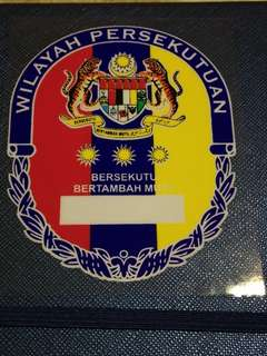Wilayah persekutuan 3 color round windscreen sticker